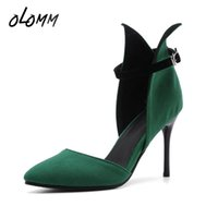 Spring Summer Women Plus Size Shoes Pumps Buckle Strap Shall...