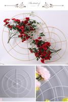 10pcs / Cristais monte de suspensão peça central do casamento DIY metal de suspensão cristais para casamento decoração do evento Flower Stand Acessórios