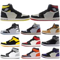 Nike Air Jordan Retro 1 Union x OG I 농구화 1s Rookie Of The Year Pine Green Barons Gold Bred Toe NRG No Ls Sneakers.