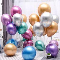 3 gramos de engrosamiento de globo decoración perla luz decorar globos de arreglo 12 pulgadas de metal circular 0 3TT J1