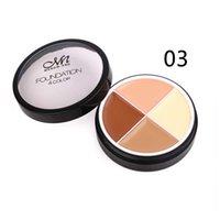 En stock! En gros maquillage doux fond de teint crème C14002 4color fond de teint cosmétique couleur anticernes dhl Livraison gratuite