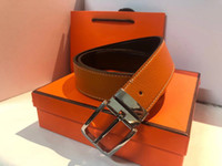 Moda Cintura di cintura di donne Mens con la moda grossa fibbia reale pelle di alta qualità Cinture affari di alta qualità con la scatola