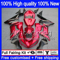 Corpo per Kawasaki ZX 6R ZX600 600cc 6 R ZX636 2005 2006 210MY.0 ZX636 600 CC ZX6R 05 06 ZX600 ZX 636 ZX6R 05 06 Carena fiamme kit Red