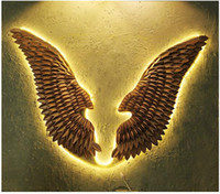 Angel Wing Wall Decorations Retro Iron Art Decoration Creati...