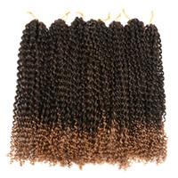 Страсть Twist волос 18 дюймов 7 упаковок воды Волновые крючком плетенки для Passion Twist Passion крючком волос Twist Braiding Наращивание волос