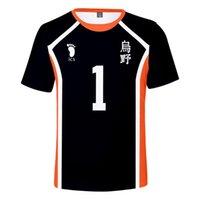 Haikyuu футболки мужчин с коротким рукавом O-образным вырезом Printed Летние виды спорта Tshirts моды Haikyuu !! Harajuku Tops