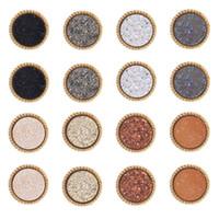 Nueva Resina Druzy Pendientes de piedra para las mujeres simple círculo joyas de oro pendiente de la manera femenina de regalos a granel