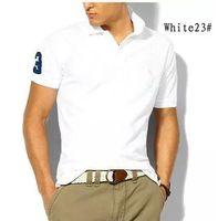 2019 핫 판매 셔츠 럭셔리 디자인 큰 말 악어 브랜드 남성 여름 턴 다운 칼라 반팔면 셔츠 남성 탑 남성 폴로