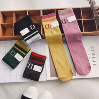 kids socks gold wire Girls Sock Fashion letter Children Sock...