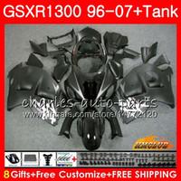 본체 SUZUKI Hayabusa GSXR 1300 GSXR1300 매트 블랙 96 02 03 04 05 06 07 24HC.1 GSX R1300 1996 2002 2003 2004 2005 2006 2007 페어링