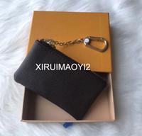 4 color cuoio KEY SACCHETTO Damier tiene portachiavi in pelle piccolo portamonete classico delle donne di moda di alta qualità chiave Portafogli