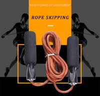 couro corda couro Skip Rope Cord velocidade condicionamento aeróbico Jumping Equipment Exercício ajustável Rope Skipping Esporte Ir