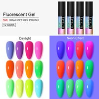 LILYCUTE Fluorescent Neon Gel Nail Polish Glow In Dark Nail ...