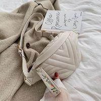 격자 무늬 허리 가방 여성 패니 팩 패션 캐주얼 허리 팩 2020 새 스레드 캐주얼 기능성 돈 전화 벨트 가방 P5를 포켓