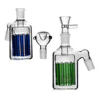 Alta Qualidade Azul Verde Cinza Coletores 2019 Fumante Coletor Dab Rig Bongo de Vidro 18mm Refluxo Comum Bongos De Vidro Acessório 2019 Grande Barriga