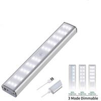 Pir Motion Capteur LED LED USB USB Cuisine Wireless Lampe murale 3 Mode Lightness Niveau de luminosité 30 LED / armoire / sous armoire