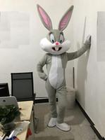 2019 rabatt fabrik verkauf Professionelle Osterhase Maskottchen Kostüme Kaninchen und Bugs Bunny Maskottchen für Erwachsene zu verkaufen