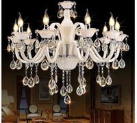 Champagne Weiß Kristall-Kronleuchter Moderne Kronleuchter Glanz de cristal Dekoration Tiffany Anhänger und Kronleuchter Beleuchtung für Zuhause