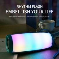 TG157 LED Blinklicht Bluetooth-Lautsprecher-beweglicher Mit Seil Außen loundspeaker 1200 mAh Stoff Wasserdichte Subwoofer FM Radio