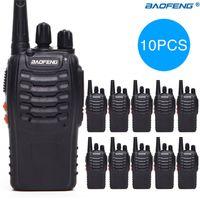 10 PCS 보풍 BF-888S 워키 토키 5W 양방향 라디오 휴대용 CB 라디오 UHF 400-470MHz 16 채널 Comunicador 송신기 트랜시버