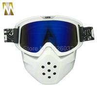 Голубой объектив мотоцикл маска Goggle Motocross Goggles шлем очки лицо ветрозащитный от очки Motocrosc
