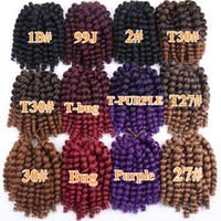 Ямайских Отказы Twist волос крючок плетенка Wand Curl плетение волос 10inch 20Strands / пакет вязание Синтетический волос