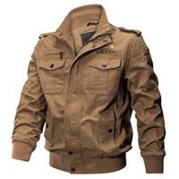 Jaquetas masculinas 5xl 6xl jaqueta homens inverno casaco de algodão piloto bombardeiro tático outono voo de carga casual