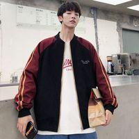 UYUK Outono Versão Coreana Do Colar Tendência Baseball Costura Casual grande e confortável bolso Casacos Roupa Hip Hop