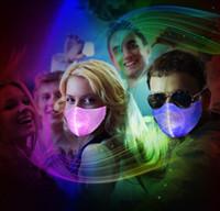 Máscaras de luz LED luminoso Moda Máscaras Mascarilla Diseñador algodón a prueba de polvo del respirador Equitación Ciclismo Hombres Y Mujeres KTV partido de la barra de la boca