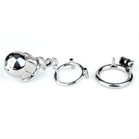 """Nuovo arrivo 316 acciaio inossidabile maschio dispositivo di castità pene anello cazzo gabbia giocattoli adulti del sesso scherzando zona """"ponte"""" -01"""