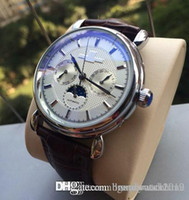Leather Strap Moonphase Automatic Mens Luxury Geneva Watch A...
