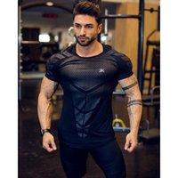 Hommes Designer Sport T-shirt à manches courtes Mode Gym Muscle Collants Vêtements haute formation élastique séchage rapide Fitness T-shirts Tops vente chaude