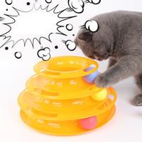 Cat Turntable Pet интерактивные игрушки Disk Антипробуксовочная Amusement Тарелка Тройной Turntable три яруса башни кошка вертушки
