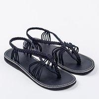 Hot Sale-Europa inferior Shoes Knot Sandals Negocia Feminino Atacado Ponto Roman sandálias Lager Tamanho