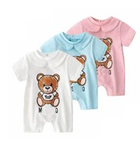Baby Boy Cartoon Bear Rompers Baby Girls brand tags Jumpsuit...