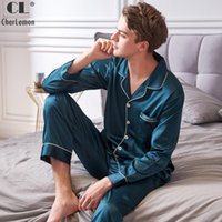 CherLemon New Solid Satin Silk Pajamas Men Super Soft Pyjama...