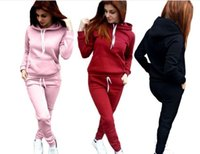 2 Piece Set Women Hoodies Sweatershirts Sports Set Warm Pull...
