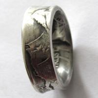 US Kunst Ringe Adler Vintage-Handgefertigt aus USA 1926s Oregon Halb Dollar-Münzen in den Größen 7-12