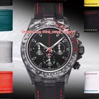 8 Style Vendita calda Migliore Qualità WWF Maker 40mm Cosmografo Dyw in fibra di carbonio Cronografo svizzero ETA 7750 Movimento Automatic Mens Guarda orologi
