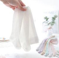 Yeni Yaz Kızlar Delik Prenses Sıkı Çocuklar Dantel Oymak Tozluk Tatlı Kızlar Dikey Çizgili Örgü Dans Külotlu Çorap Alt C6364
