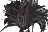 2019 gratis verzending groothandel 12-14inch zwarte coque lul veer haan staart veer voor kostuums decor ambachten partij decor 630 stks