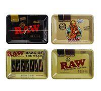 Prima del balanceo bandeja de metal de cigarrillos fumar tabaco bandejas Placa caso de almacenamiento de 18 * 12.5cm fumadores Roller Accesorios amoladora
