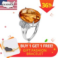 Us Stock Tested Citrine Ring For Women, 925 Sterling Silver ...