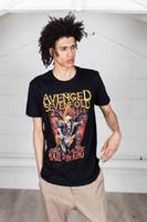 Officiel Avenged Sevenfold Ornate Deathbat T-shirt Unisexe Seize the Day Band mer