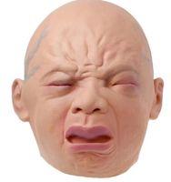 Силиконовая маска Prop Creepy Детские копной Latex Rubber маскарад маска Смешные партии Маски для лица Хэллоуин WL1270