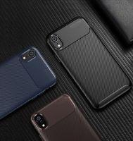 Luxus kohlefaser weichgummi tpu silikon telefon zurück case abdeckung shell für iphone xxr xs max 8 7 6 plus samsung s10 lite s9 a8 a9 plus