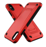 Bester Fall für iPhone 6 6s 7 8 Plus Xs Max Xr Dual-Layer-Schutzhülle Anti-Fall-TPU für Apple iPhone X Cases neues Design