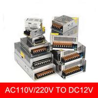Interruptor de alimentação DC12V 6A 10A 15A 20A 25A 30A LED 40A iluminação Transformersfor Led Faixa AC100-240V para DC12V LED Transformer