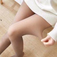 Имитация кожи Женщины Леггинсы Колготки зима Колготки прозрачные эластичные сексуальные колготки Теплой Толстые колготки для девочек чулок