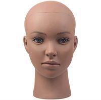 Modèle noir africain africain de formation de pratique principale de mannequin de PVC avec la bride pour l'affichage de chapeau de perruques